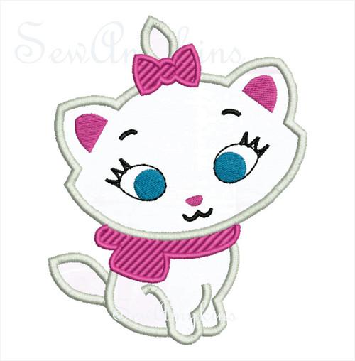 Marie Aristocats cat cutie applique