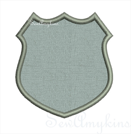 Badge applique Police Shield