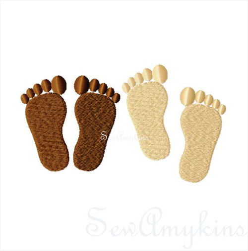 baby footprints fill stitch