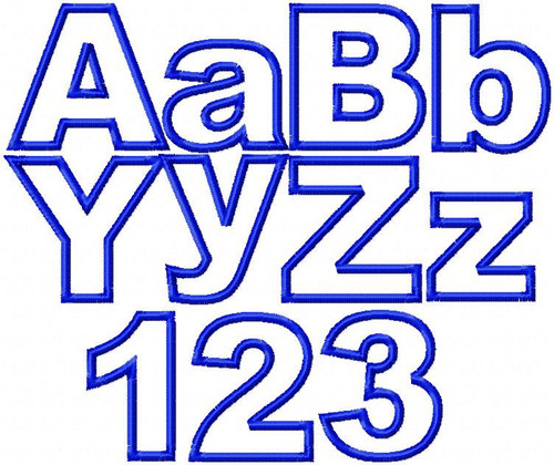 simple applique alphabet upper lower embroidery files, arial font