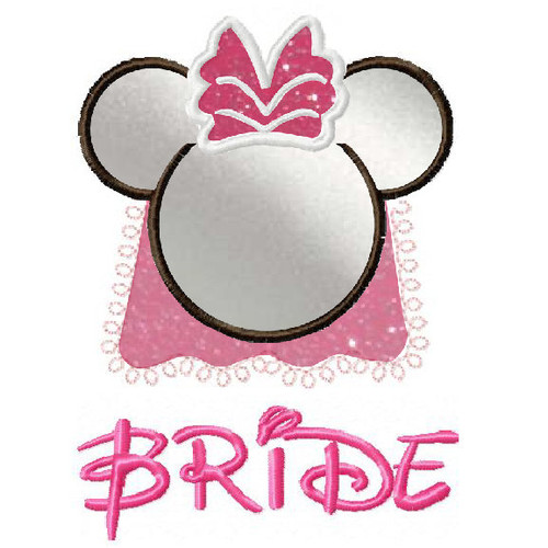Minnie Mouse Bride applique