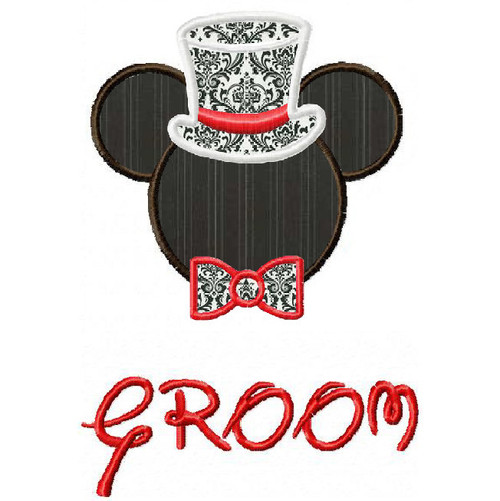 Mickey Mouse Groom applique