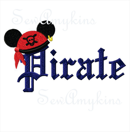 Mickey Mouse Pirate Word hat