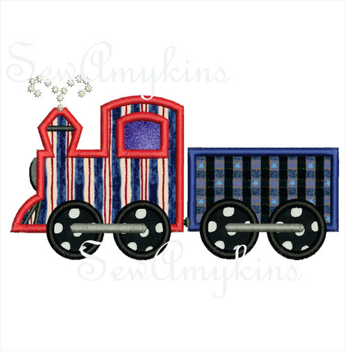 Train and Boxcar applique