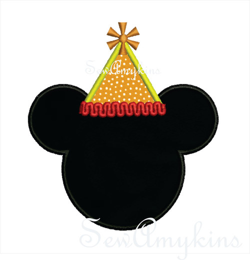 Mickey Mouse Birthday Hat applique