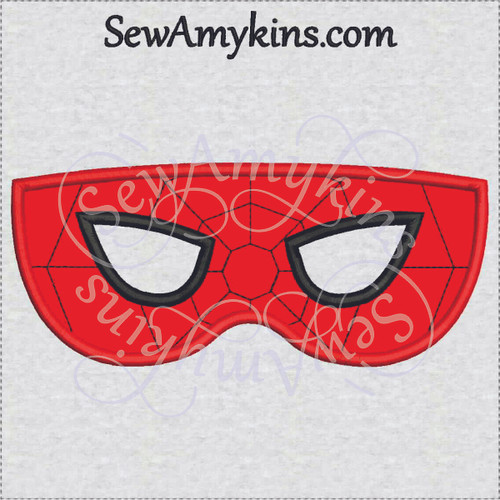 spiderman mask halloween applique machine embroidery design