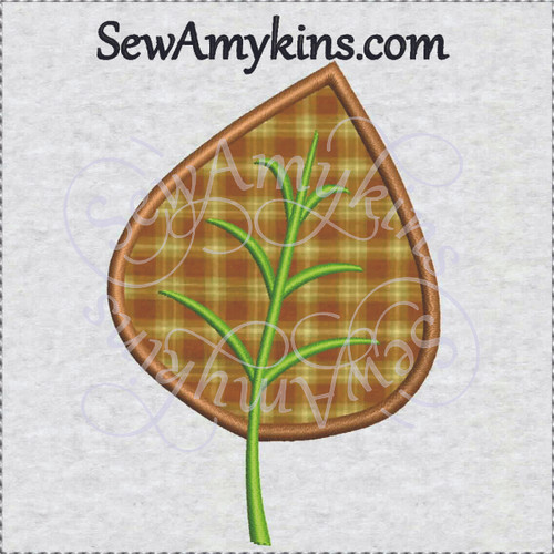 leaf applique fall autumn machine embroidery design