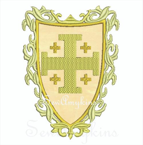 Knight Cross Shield applique