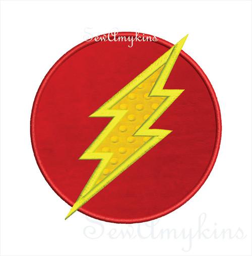 lightning applique Flash Gordon + plain lightning bolt