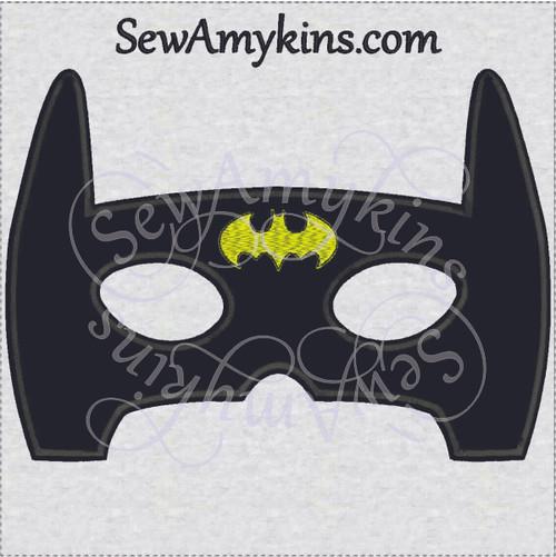 batman mask halloween applique embroidery design