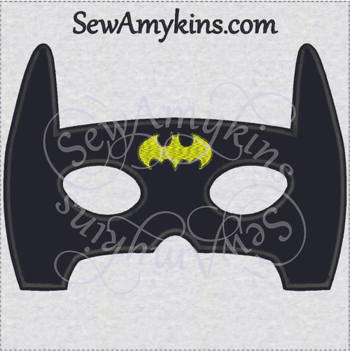 batman mask halloween applique embroidery design