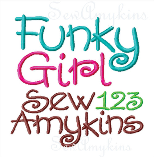 Funky Girl similar to Curlz girly alphabet