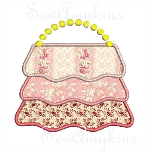 Purse Ruffles Handbag applique