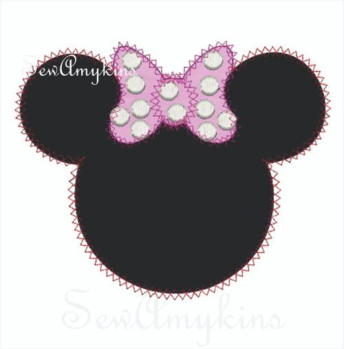 Minnie Mouse diamond edge applique