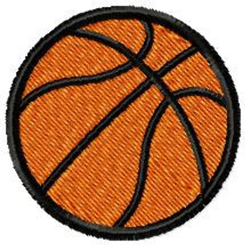 Basketball 5 files applique + fill stitch