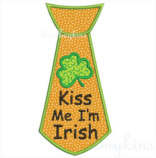 Irish Tie applique Kiss Me