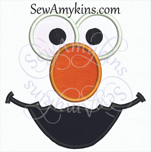 Elmo nose, mouth, eyes applique face parts