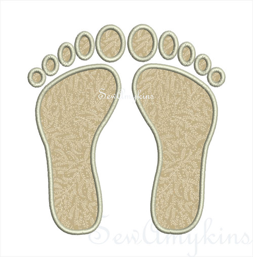 Footprints applique 5 files