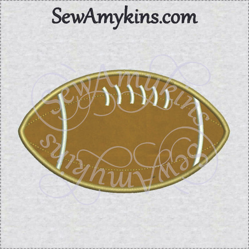 football applique machine embroidery design in 5 sizes