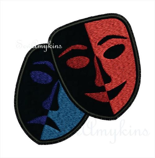 Theater drama applique masks