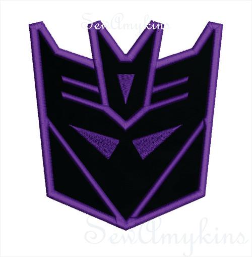 Decepticon Applique Transformers robot