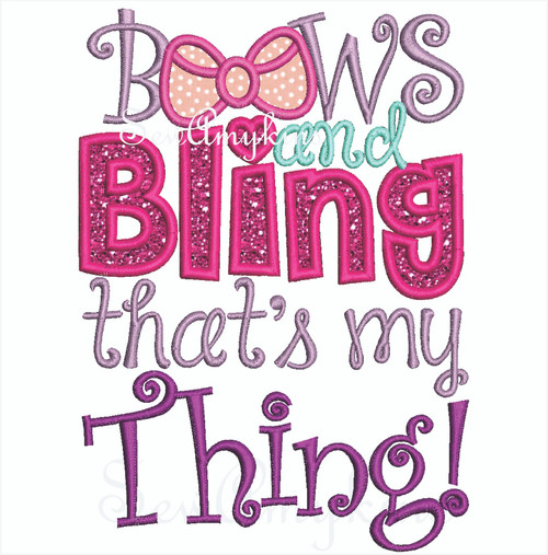 Bows and Bling That's my Thing