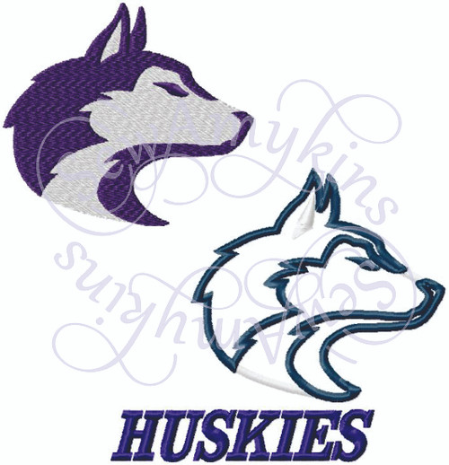 huskies husky applique dog face embroidery design