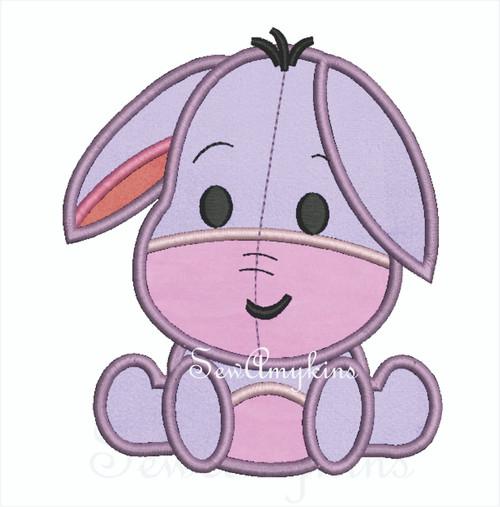 Eeyore donkey cutie applique