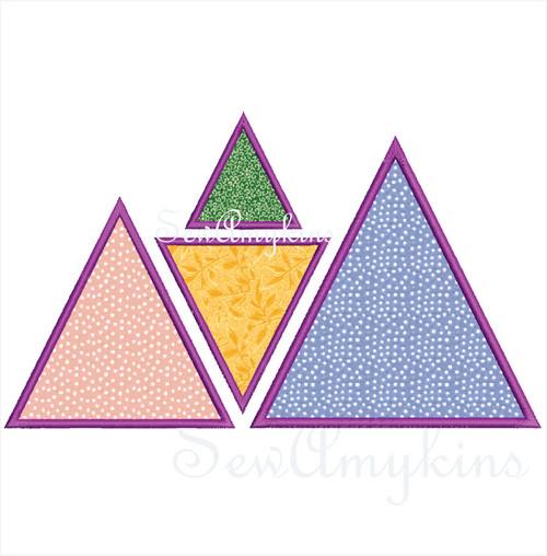 triangle applique machine embroidery designs