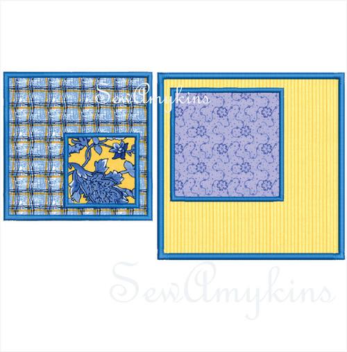 square applique shape machine embroidery design