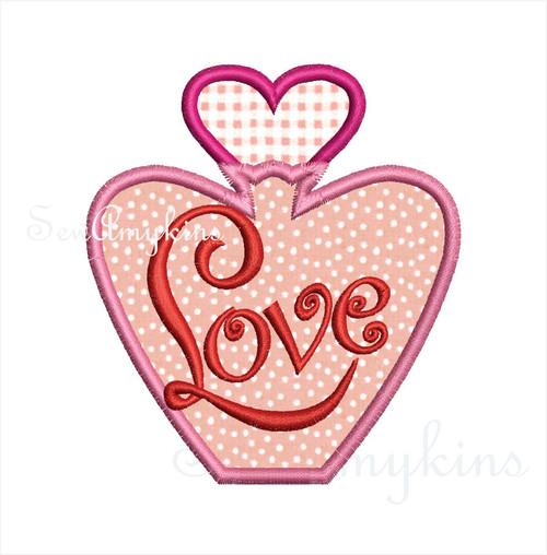 Perfume Bottle Love applique
