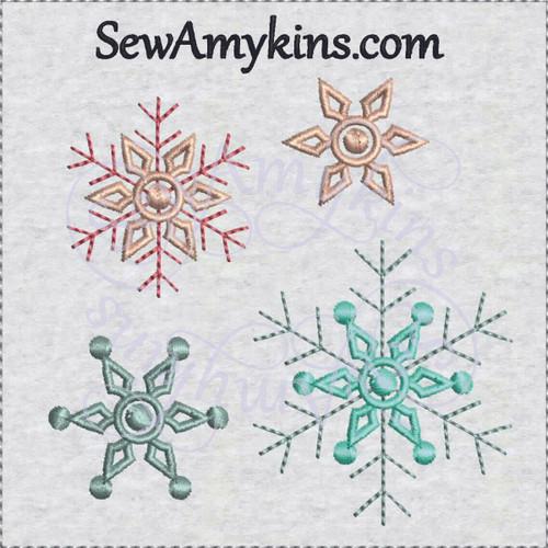 snowflake embroidery design snow flake snowflakes winter