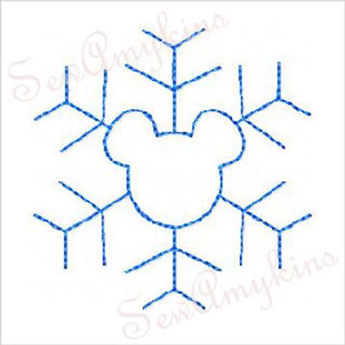 Mickey Snowflake line art set