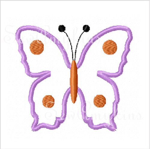 Butterfly applique dot accents