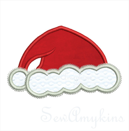 Santa Hat applique 5 files