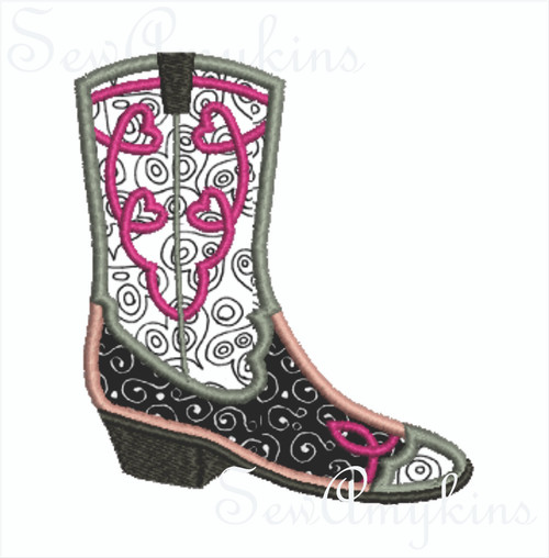Girl Cowboy Boots applique