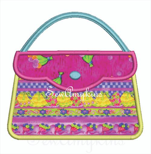 Purse Scallop flap Handbag applique