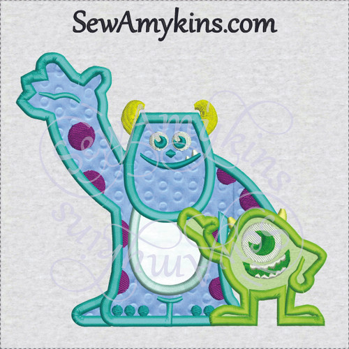 Mike Sully applique Monster Inc Baby young kids
