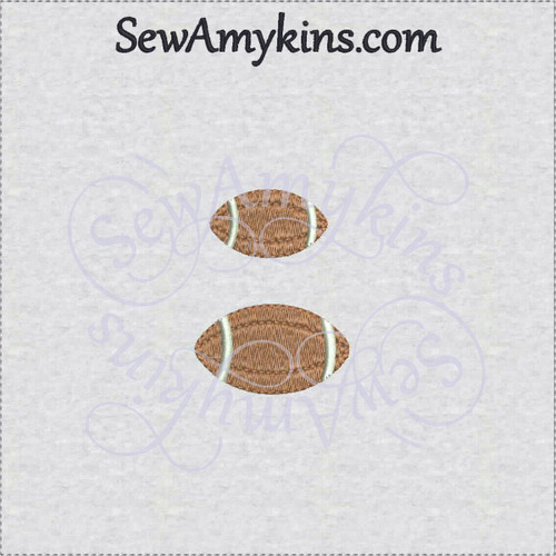 mini football embroidery design