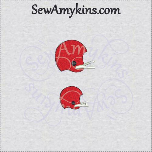 mini football helmet embroidery design