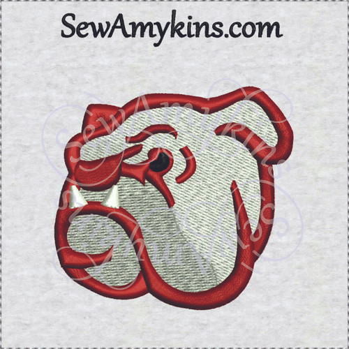 bulldog face embroidery design bull dog mascot for school or college