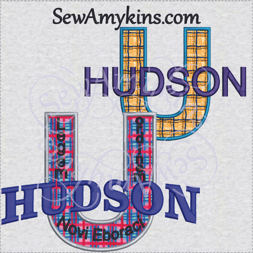 Hudson university U applique law & order mythical school college design
