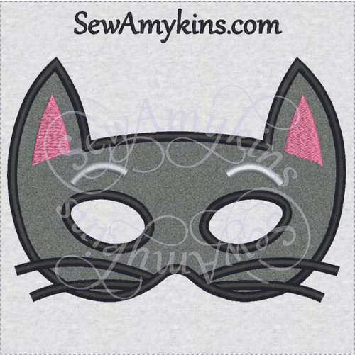 cat halloween mask applique machine embroidery design kitty kitten