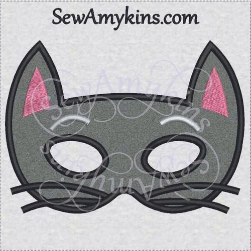 cat halloween mask applique machine embroidery design kitty kitten