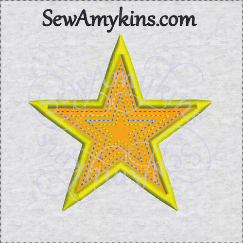 star applique embroidery design free