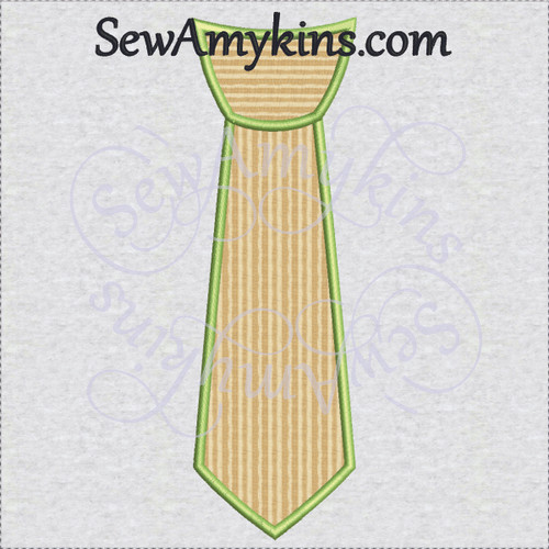tie applique narrow skinny 2 step fabrics embroidery design necktie neck