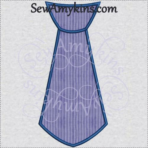 tie applique embroidery design necktie neck