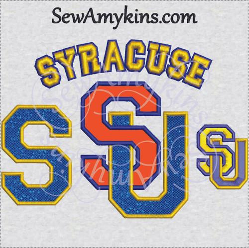 Syracuse university SU S applique machine embroidery designs