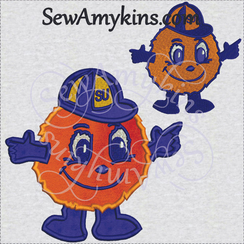Otto Syracuse mascot orangeman SU applique fill set embroidery