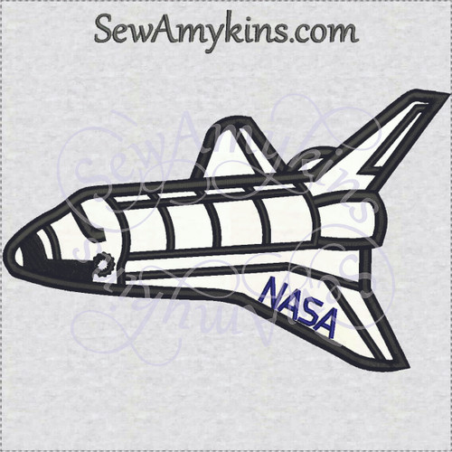 space shuttle applique space ship rocket embroidery design.JPG